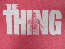 VINTAGE THE THING - JOHN CARPENTER HORROR MOVIE RED MEDIUM T-SHIRT J53