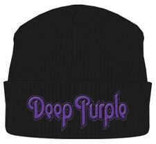 """Deep PURPLE """"Logo nero"""" Beanie-Nuovo & Ufficiale!"""