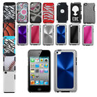For Apple iPod Touch 4th Generation Hybrid Tuff Hard Case Soft Cover Protector