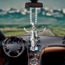Bull Head Shape Pendant Car Rear View Mirror Charm Hanging Decoration Accessory