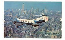 Vintage Postcard NEW YORK AIRWAYS Helicopter VERTOL 44B  NY & Newark airports