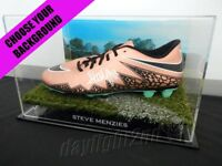 ✺Signed✺ STEVE MENZIES Football Boot PROOF COA Manly Sea Eagles 2019 Jersey