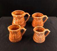 Measuring Cups 4 Cup Set Of Ceramic American Eagle Gold Vintage Japan Enesco