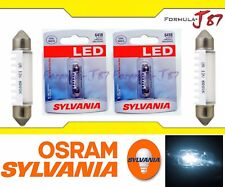 Sylvania Premium LED light 6418 White Two Bulbs Dome Map Mirror Trunk Cargo OE