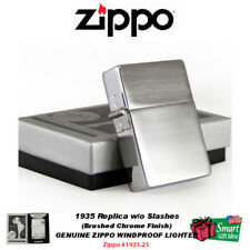 Zippo 1935 Replica Lighter, w/o Slashes, Brushed Chrome, Windproof #1935.25