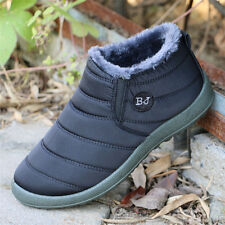 HOT Women's Winter Warm Fabric Fur-lined Slip On Ankle Snow Boots Sneakers Shoes