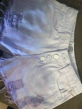 Ombre Purple and White Denim Shorts Size 12