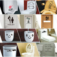 Toilet Seat Wall Sticker Vinyl Art Wall paper Removable Bathroom Decals Decor