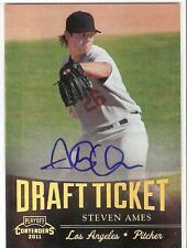 STEVEN AMES ROOKIE AUTOGRAPH 2011 PLAYOFF CONTENDERS DRAFT TICKET DT47 DODGERS