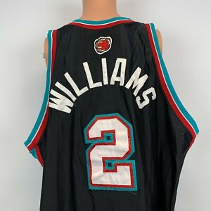 Reebok Authentic Jason Williams Memphis Grizzlies Jersey Vtg NBA Sewn Black 60