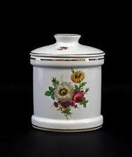 9947207 Porcelain Gebäck-dose Floral Decoration 13x16cm