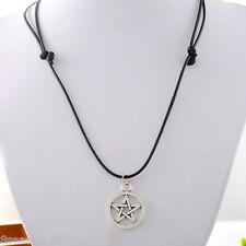 HX 1PC Black Pentagram Star Charm Necklace Hot Fashion Jewelry 70cm