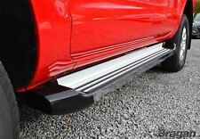 To Fit 12-16 Isuzu D-Max Polished Aluminium Side Steps Running Boards Skirts