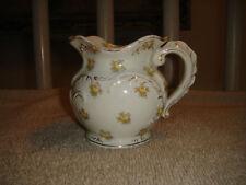 Antique Maddocks Works Lamberton Creamer-Royal Porcelain-Yellow Flower Design