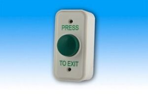Narrow Green dome exit button / door release switch / request to exit / REX