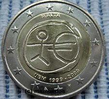 Malta 2 Euro Gedenkmünze 2009 UEM 10 Jahre WWU EMU commemorative coin moedas