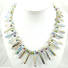 Titanium Crystal Necklace Ladies Handmade Gemstone Jewellery Necklace  A1