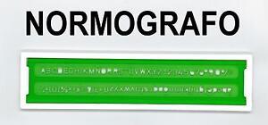 NORMOGRAFO N°3,5 mm. LETTERE/NUMERI - LETTERING STENCIL - TRACE LETTRES