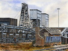 Brodsworth Colliery - 1905 - 1990 - Ltd Ed Print - Pit Pics - Coal Mining