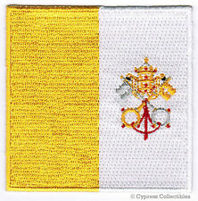 VATICAN POPE FRANCIS FLAG EMBROIDERED PATCH HOLY SEA CATHOLIC CHURCH IRON-ON new