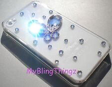 3D CRYSTAL Rhinestone Butterfly 2 PC Case for iPhone 5 5S with Swarovski Elemnts