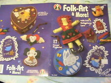FOLK-ART & MORE~17 felt & Battenburg lace~cloth art doll & other felt patterns