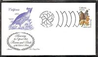 US SC # 1957 State Birds And Flowers ( California ) FDC . Artmaster Cachet