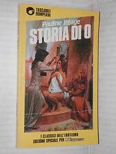 STORIA DI O Pauline Reage Bompiani Tascabili L Espresso 1990 libro romanzo di