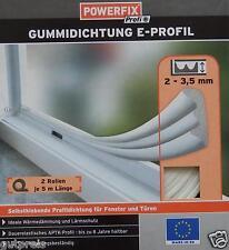 POWERFIX Profi+ Gummidichtung Fensterdichtung Türdichtung E Profil weiß NEU