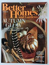 Better Homes and Gardens Magazine October 2016 Copper Decorating Spooky Crafts