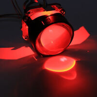 2PCS LED Red Demon Evil Eye Devil Eye DRL For Headlight Projector Lens Retrofit