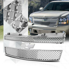 Chrome ABS 3D Wave Mesh Grille/Grill for 07-14 GMT900 Tahoe/Avalanche/Suburban