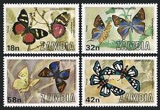 Zambia 220-223, MNH, Insects Butterflies 1980. x28017