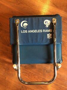 Vintage Los Angeles Rams Folding Padded Stadium Seat Chair FREE SHIP NFL