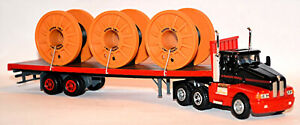 KENWORTH T 600 Plano Remolque Cables D&S Tracking 1:87 Model Power