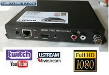 HDMI Composite Encoder Youtube Twitch Ustream LiveStream Live Broadcast IP Video