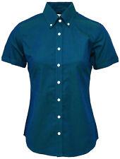 Relco Womens Blue Two Tone Tonic Shirt Short Sleeve Mod Vintage Ska Nortern