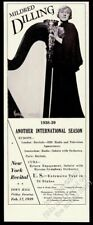 1939 Mildred Dilling photo harp recital tour booking vintage trade print ad