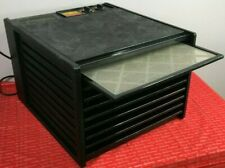 Excalibur 9 Tray Professional Dehydrator W/ Timer Black 4926T Preowned Working