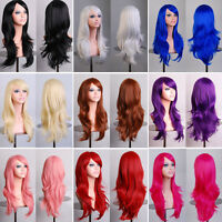 70cm Womens Lady Wigs Long Hair Full Wig Curly Wavy Hair Hairpiece Party Costume
