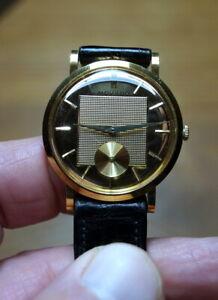 traumschöne MOVADO Herren Armbanduhr 1960 mechanisch 18K 750er Gelbgold