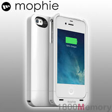 Genuine mophie Juice Pack Air Battery Case for Apple iPhone 4 S 4s White 1500mah