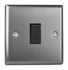 Varilight XTBPB Classic Brushed Steel 1 Gang 10A Retractive Light Switch