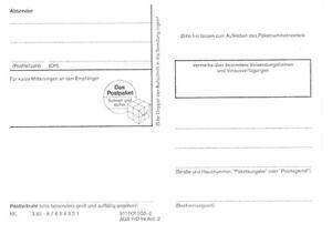 Adressaufkleber für Päckchen Pakete - Deutsche Bundespost Post – gummiert 3.93