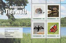 Oostenrijk 2020  Dieren muis schildpad vlinder vogel Velletje   postfris (MNH)