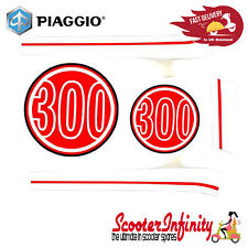 Sticker Decoration Trim for Vespa GTS Super 300 (Dragon Red 894, red / white)