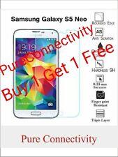 2 AUTENTICO VETRO TEMPERATO Temper vetro Proteggi schermo per Samsung Galaxy S5 NEO