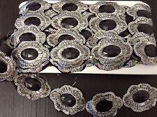 Black Jewel Sequin Indian wedding  cakedance costume ribbon mesh rhinestone