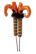 "Raz 26"" POSABLE WITCH LEGS (Orange Shoes, Black Cuff) Halloween H3412061 1 pair"