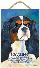 Cavalier King Charles Traits & Characteristics Sign 7.5 x 10 Black